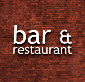 Bar and Restaurant sign