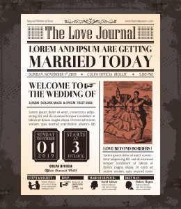 Wedding Newspaper