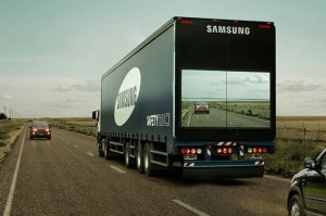 "Samsung Unveils ""See-Through"" Safety Trucks"