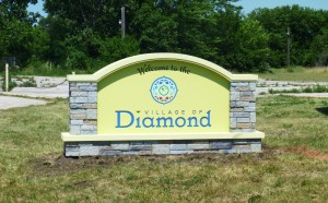 Village of Diamond, Illinois, Proud of Their New Monument Sign