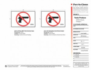 Conceal and Carry Sign Guidelines