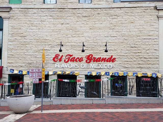El Taco Grande's New Sign in Historic Batavia