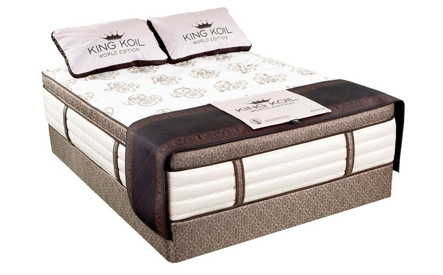 King koil world edition mattresses the mattress factory for Which mattress company is the best