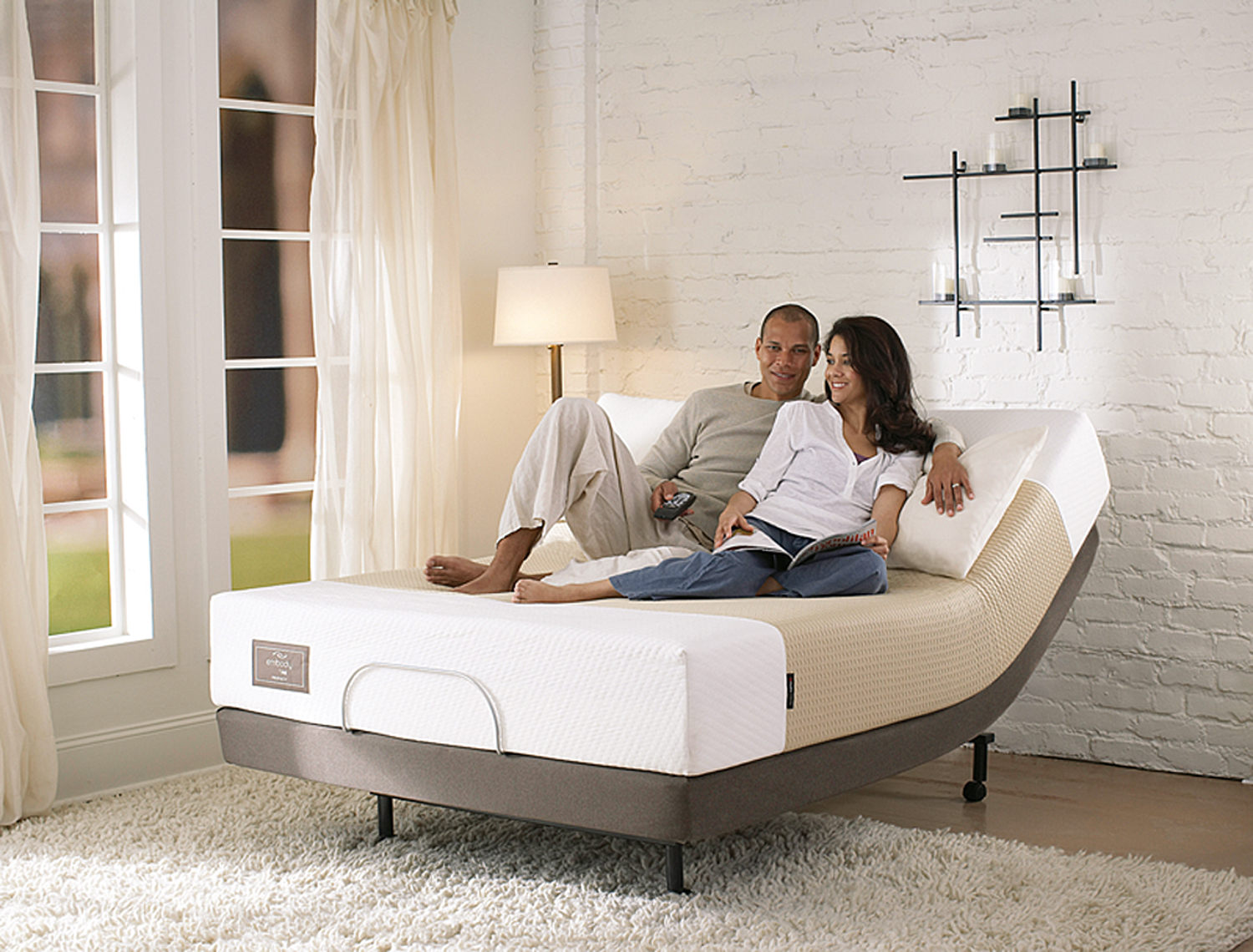 x embody by sealy introspection memory foam adjustable bed
