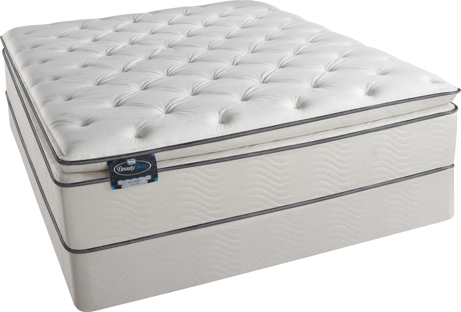 x - Simmons BeautySleep - Euro Pillow Top Foam Encased