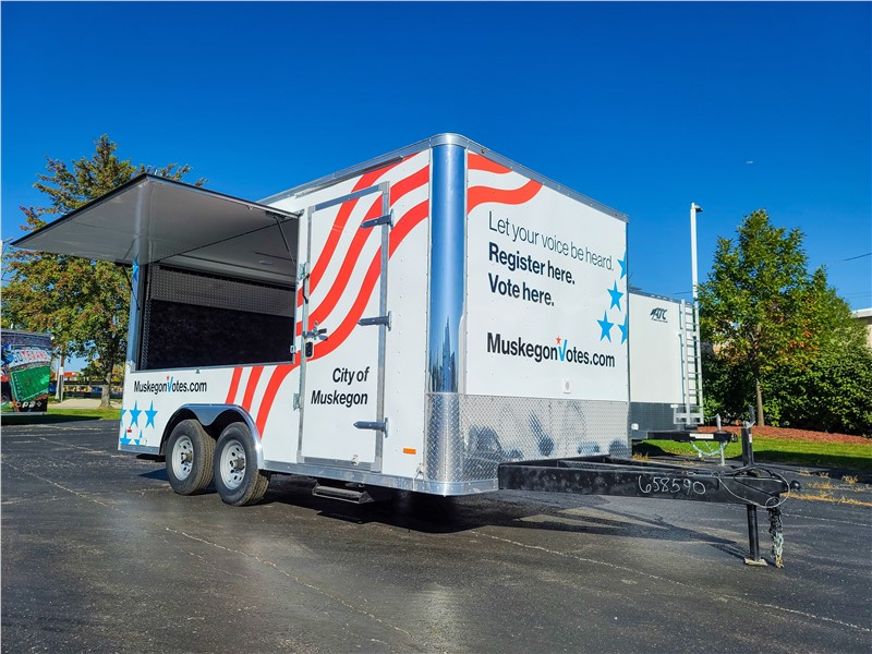 Muskegon Voting Trailer Providing Increased Voting Accessibility for Residents