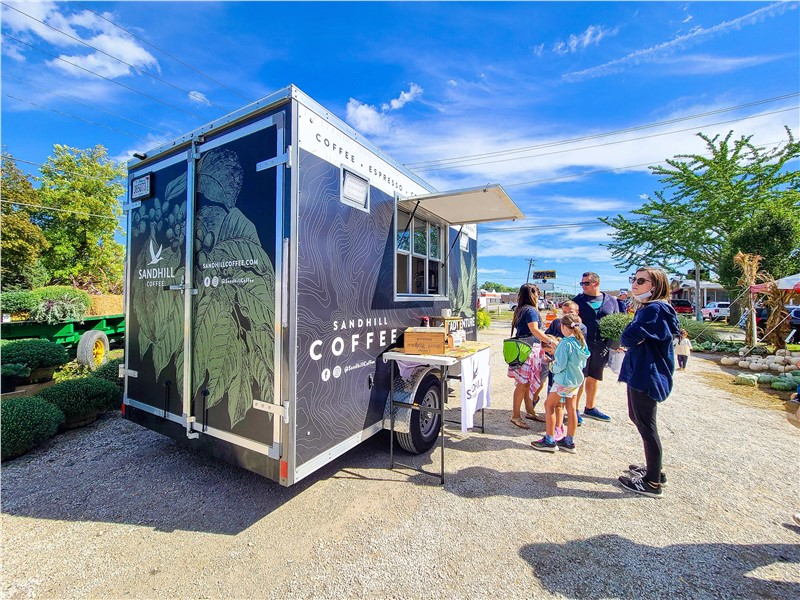 Sandhill Coffee Using Mobile Cafe Trailer to Serve Coffee to Chicago Suburbs