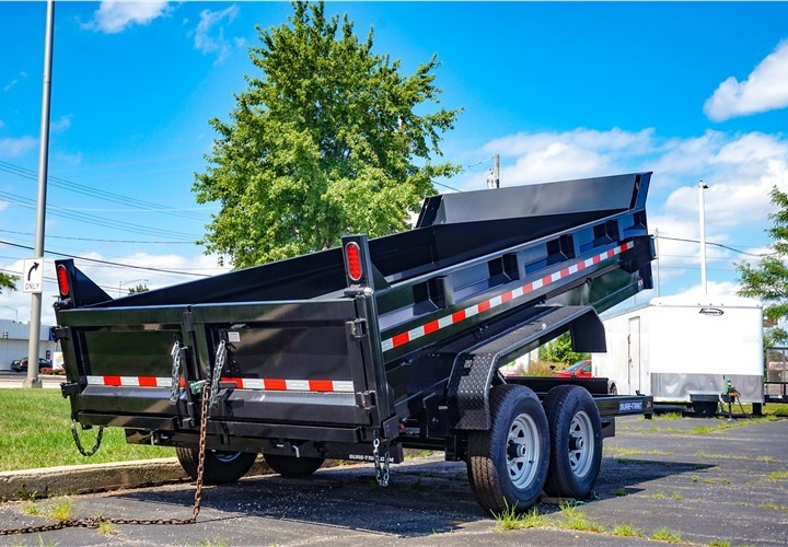 7'x14' Sure-Trac Low Profile Dump Trailer