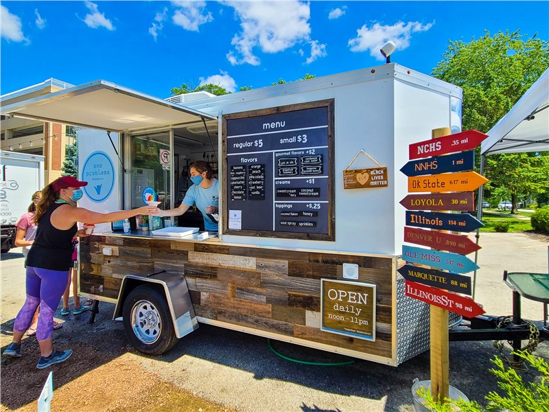 No Summer Job? Sno Problem! Local Students Find Success With Shaved Ice Trailer in Naperville