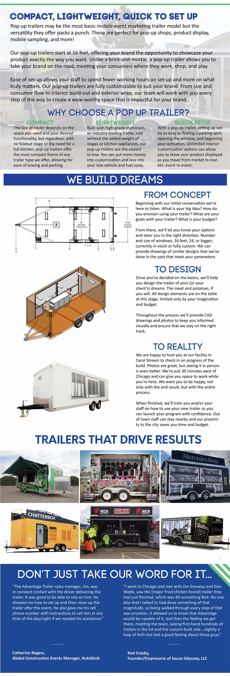 Pop-Up Trailers