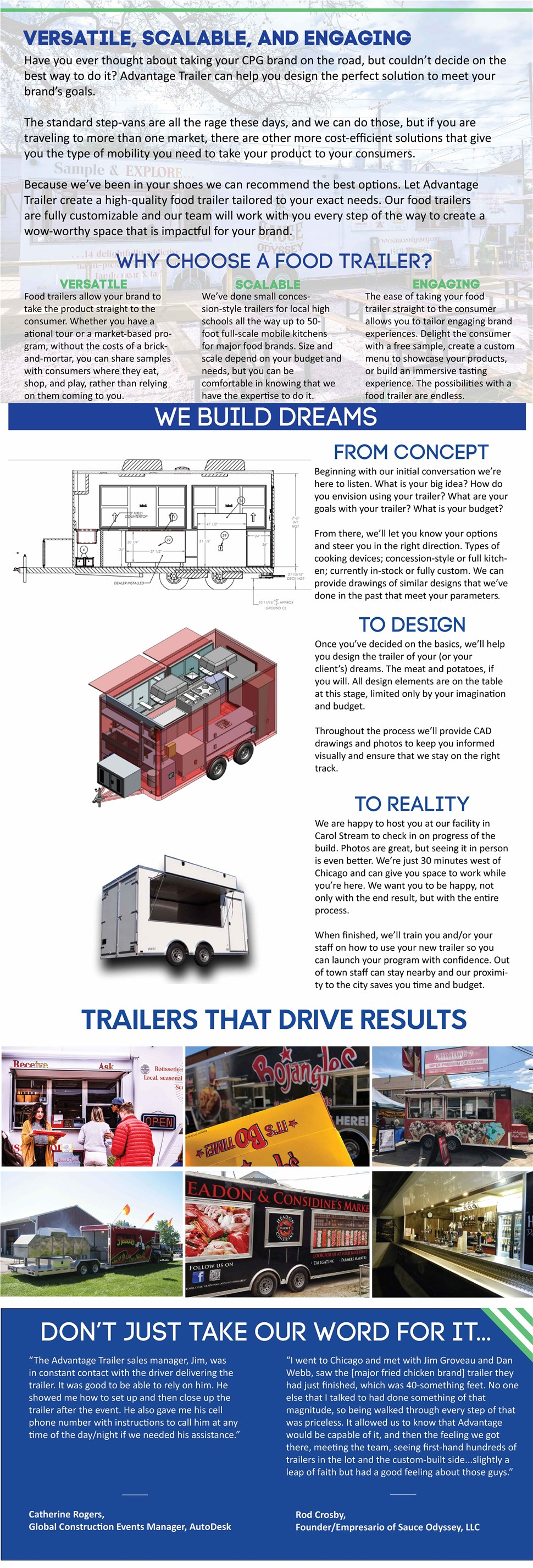 Advantage Trailer Food Trailers