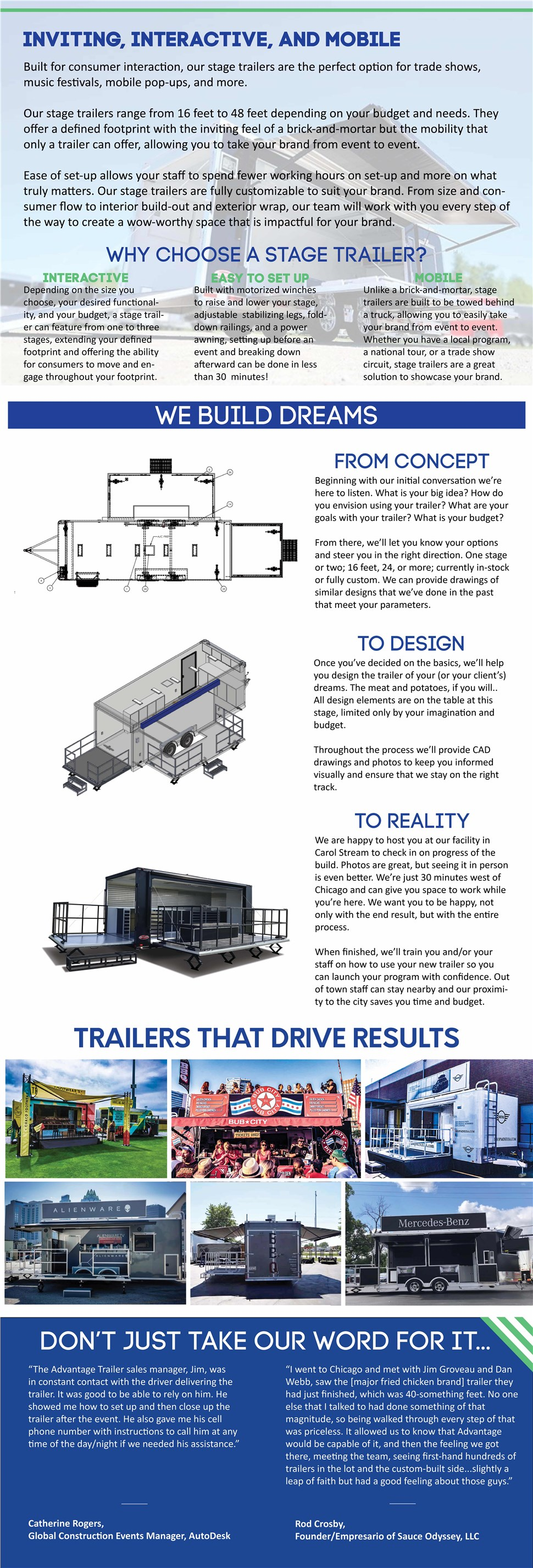 Advantage Trailer Stage Trailers