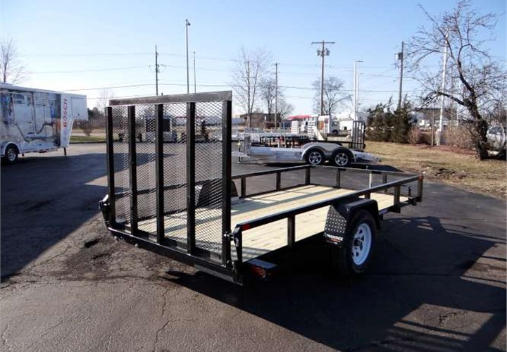 6 X 12 Tube Top Utility Trailer With Fold Flat Gate