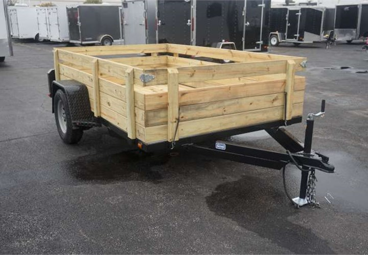 6 4 Quot X 10 Open Utility Trailer With Removable Sides