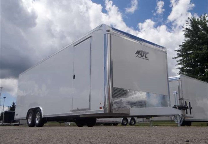 Enclosed 8 5 X 24 Polar White Car Hauling Trailer Built