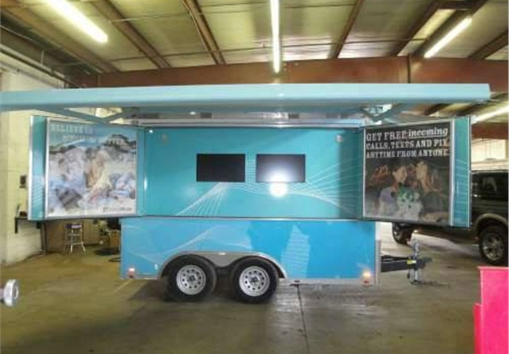 Mobile Showroom And Retail Store Trailer Customization
