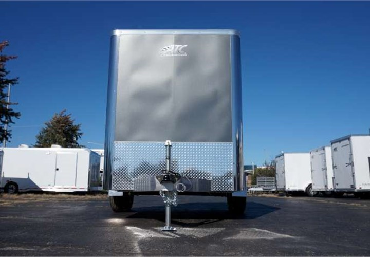 Enclosed Cargo Trailer For Concrete Flooring And Surface