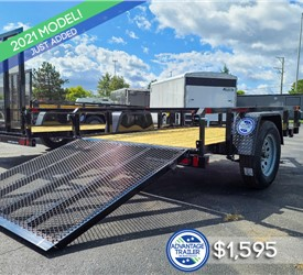 5'x8' Sure-Trac Tube Top Utility Trailer