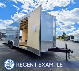 8.5'x20' Discovery Car Hauler (Silver) - Recent Example