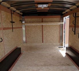 White 8.5' x 12' Enclosed Landscape Trailer for Local Grocery Store