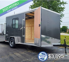 6'x12' Formula Conquest Cargo Trailer with Window