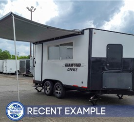 17' Office Trailer with 12' Awning - Recent Example
