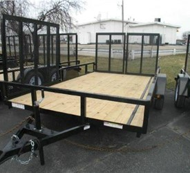 Sure-Trac Open Landscape Trailer W/Side Gate