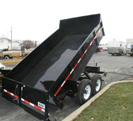 SURE-TRAC 16' DUMP TRAILER  W/EQUIPTMENT RAMPS
