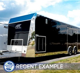 28' ATC Quest X Car Hauler - Black