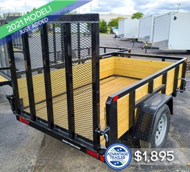 5'x8' Sure-Trac Tube Top 3-Board Utility Trailer