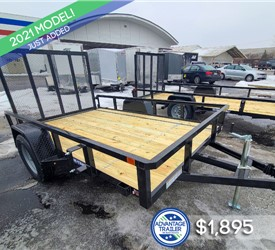 6'x10' Sure-Trac Tube Top Utility Trailer