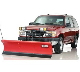The WESTERN Suburbanite snow plow is SUV and compact pick-up ready