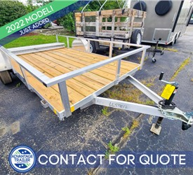 6.5'x12' MTI Aluminum Utility Trailer with Wood Deck