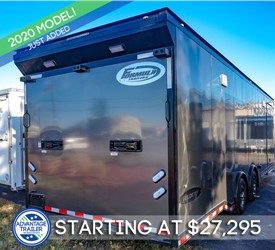 28-Foot Race Trailer - Formula Velocity - Charcoal