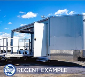 20' Experiential Marketing Stage Trailer with 4' Wedge - Recent Example