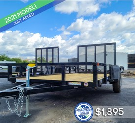 6'x12' Sure-Trac Tube Top Utility Trailer