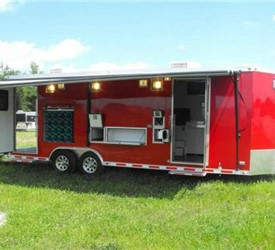 Mobile Rescue Trailer Outfitted for the Support of First Responders