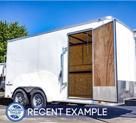 Heavy-Duty 7' x 14' Cargo Trailer