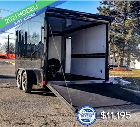 7'x14' Formula Motorcycle Trailer - Blackout