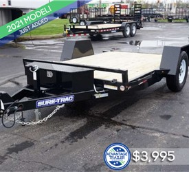 6.5' x 12' Sure-Trac Tilt Bed Equipment Hauler
