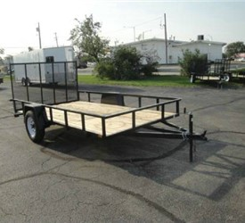 Open Black 6.5' x 12' U.S. Cargo – Forest River Utility Trailer