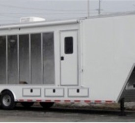 40' Gooseneck Mobile Marketing Trailer with Clear Acylic Side