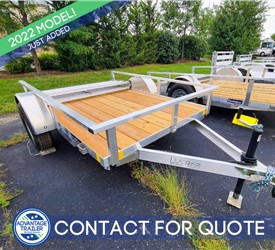 5.5'x8' MTI Utility Trailer with Wood Deck