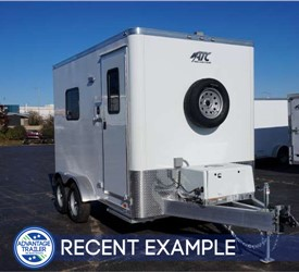2020 7x12 Aluminum Framed Fiber Optic Splice Trailer - Recent Example