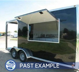 7'x18' BBQ Trailer with 6' Porch - Past example