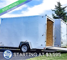 Stealth Mustang 6x12 Enclosed Cargo Trailer - White