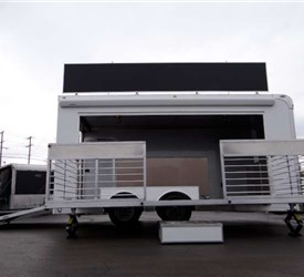 18' Mobile Marketing Trailer with 14' Stage Door
