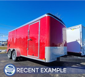7'x16' Formula Round Top Landscaping Trailer - Recent Example
