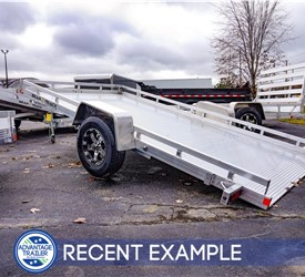 Bear Track 6.5'x12.5' Tilt Utility Trailer - Recent Example