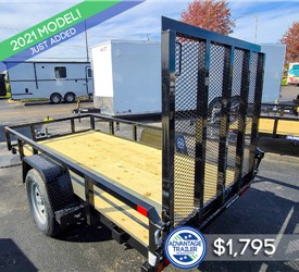 5'x10' Sure-Trac Tube Top Utility Trailer